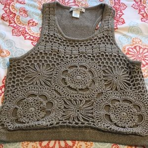 Arden B Crop Knit Tank Top